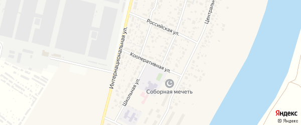 Кооперативная улица на карте деревни Алексеевки с номерами домов