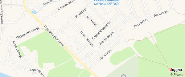 Строительная улица на карте Благовещенска с номерами домов