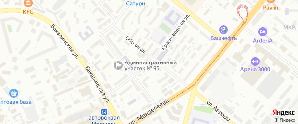 Красноводская улица на карте Уфы с номерами домов