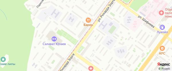 Улица Рихарда Зорге на карте Уфы с номерами домов