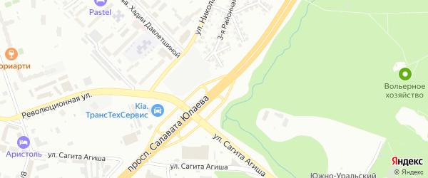 Проспект Салавата Юлаева на карте Уфы с номерами домов