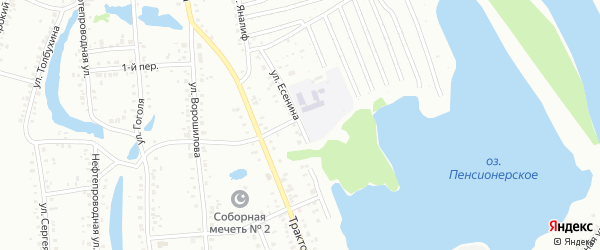 Улица Есенина на карте Ишимбая с номерами домов
