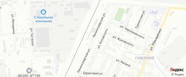 Ленинградская улица на карте Стерлитамака с номерами домов