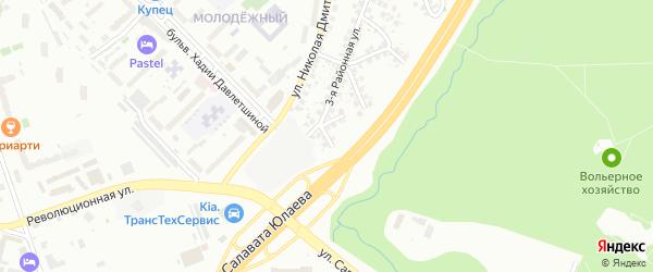 Районная 5-я улица на карте Уфы с номерами домов