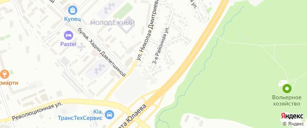 Заводская 3-я улица на карте Уфы с номерами домов