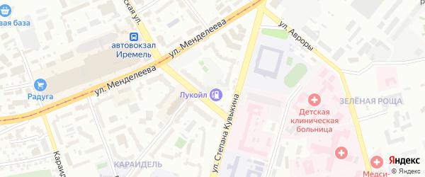 Нефтепроводный переулок на карте Уфы с номерами домов