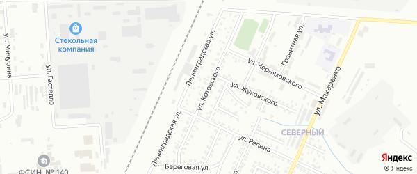 Улица Котовского на карте Стерлитамака с номерами домов