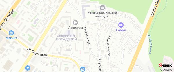 Авзянская улица на карте Уфы с номерами домов