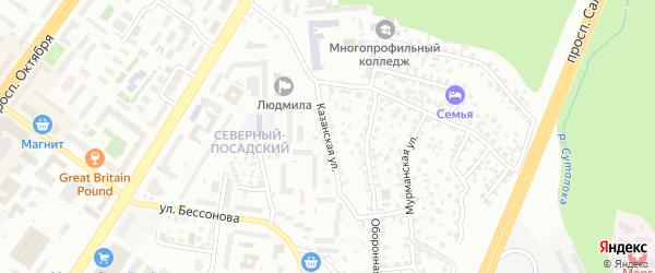 Казанская улица на карте Уфы с номерами домов