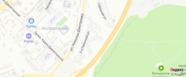 Районная 2-я улица на карте Уфы с номерами домов