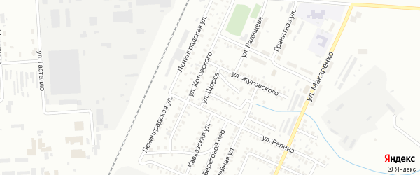 Улица Щорса на карте Стерлитамака с номерами домов