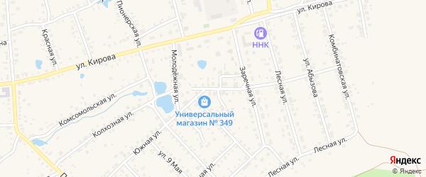 Южная улица на карте Благовещенска с номерами домов