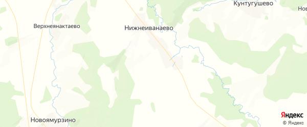 Карта Богдановского сельсовета республики Башкортостан с районами, улицами и номерами домов