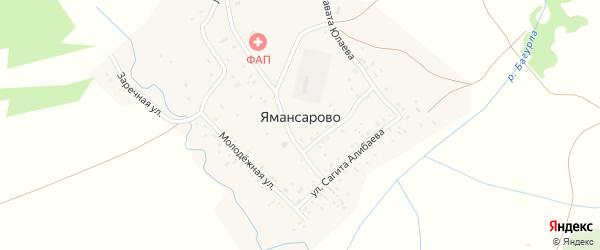 Заречная улица на карте села Ямансарово с номерами домов