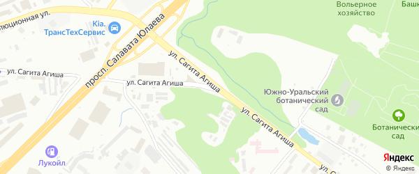 Улица Сагита Агиша на карте Уфы с номерами домов