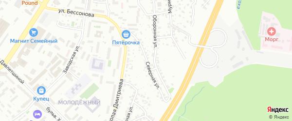 Северная улица на карте Уфы с номерами домов
