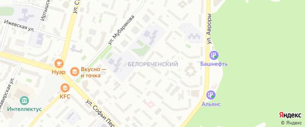 Улица Белореченский Овраг на карте Уфы с номерами домов