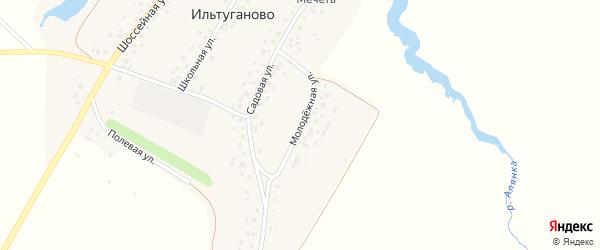 Молодежная улица на карте села Ильтуганово с номерами домов