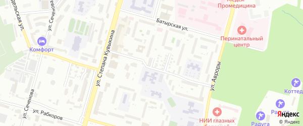 Кронштадский 3-й переулок на карте Уфы с номерами домов