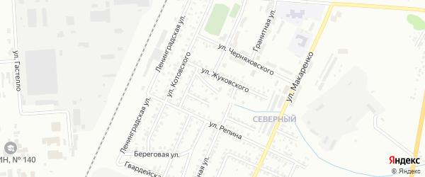 Переулок Жуковского на карте Стерлитамака с номерами домов