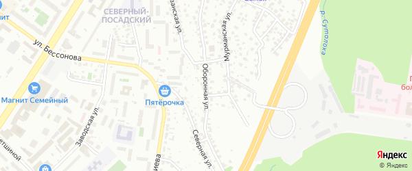 Оборонная улица на карте Уфы с номерами домов