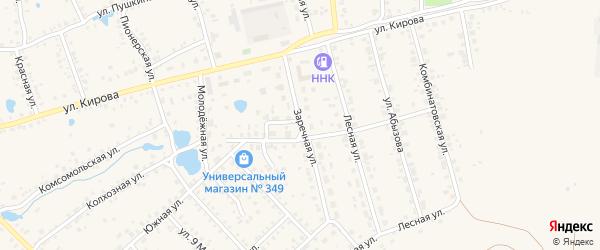 Заречная улица на карте Благовещенска с номерами домов