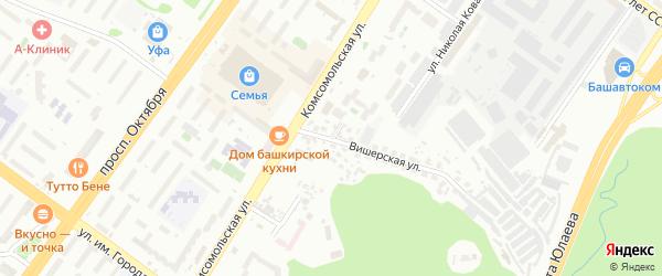 Тихорецкая улица на карте Уфы с номерами домов