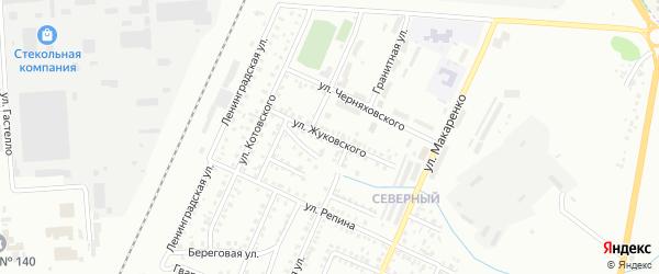 Улица Жуковского на карте Стерлитамака с номерами домов