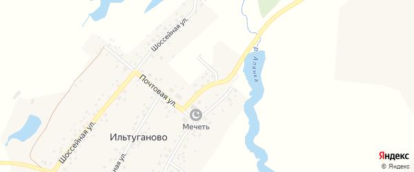 Мостовая улица на карте села Ильтуганово с номерами домов