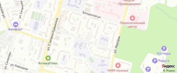 Кронштадская 2-я улица на карте Уфы с номерами домов