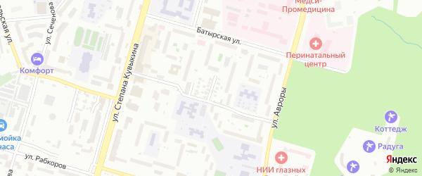 Кронштадская улица на карте Уфы с номерами домов