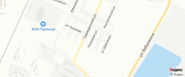 Плановая улица на карте Стерлитамака с номерами домов