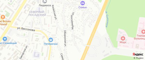 Мурманская улица на карте Уфы с номерами домов