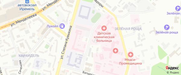 Кронштадская 1-я улица на карте Уфы с номерами домов