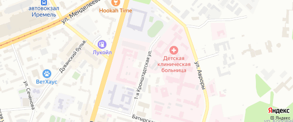 Кронштадская 3-я улица на карте Уфы с номерами домов
