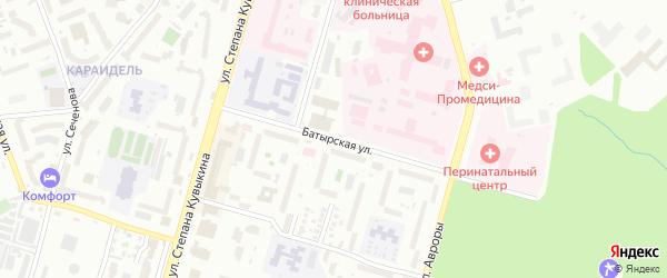 Батырская улица на карте Уфы с номерами домов