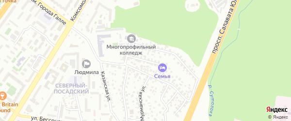 Средняя Шелководная улица на карте Уфы с номерами домов