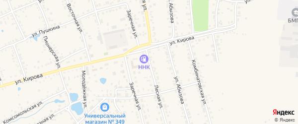 Лесная улица на карте Благовещенска с номерами домов