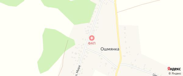 Молодежная улица на карте деревни Ошмянки с номерами домов