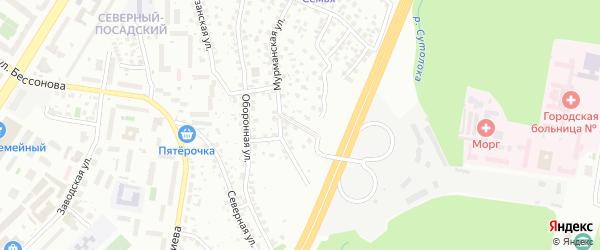 Мурманский переулок на карте Уфы с номерами домов