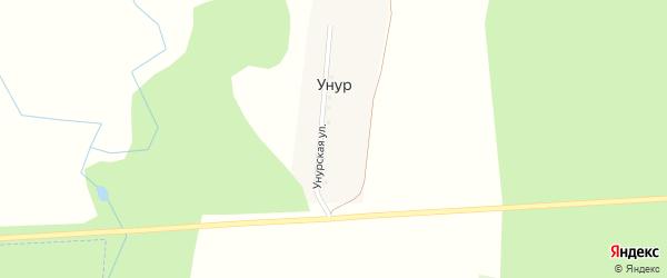 Унурская улица на карте деревни Унура с номерами домов
