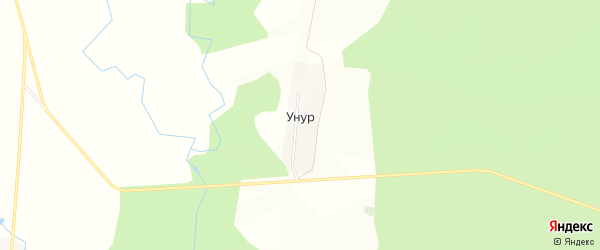Карта деревни Унура в Башкортостане с улицами и номерами домов