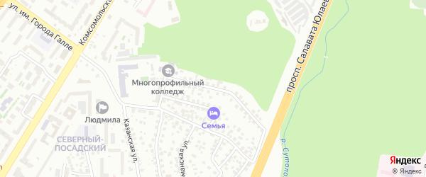 Малая Шелководная улица на карте Уфы с номерами домов