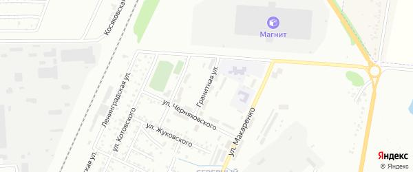 Гранитная улица на карте Стерлитамака с номерами домов