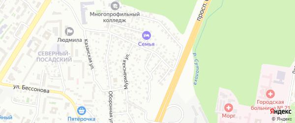 Красноуфимская улица на карте Уфы с номерами домов