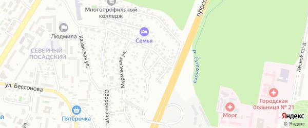 Пионерский переулок на карте Уфы с номерами домов
