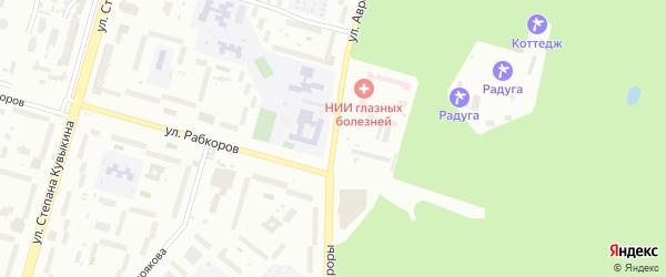 Улица Авроры на карте Уфы с номерами домов