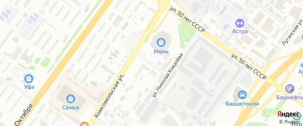 Малая Тихорецкая улица на карте Уфы с номерами домов