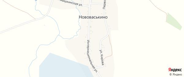 Интернациональная улица на карте деревни Нововаськино с номерами домов