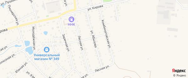 Улица Абызова на карте Благовещенска с номерами домов